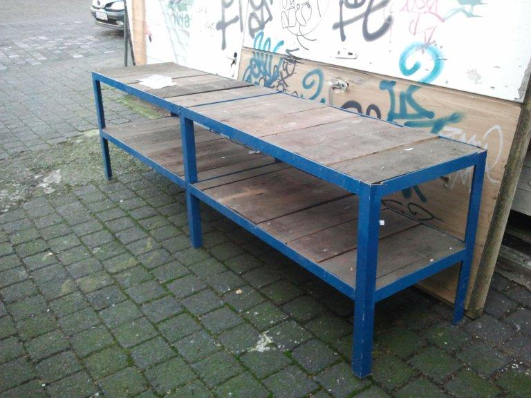 Werkstatt-Tisch, Schwerlastregal