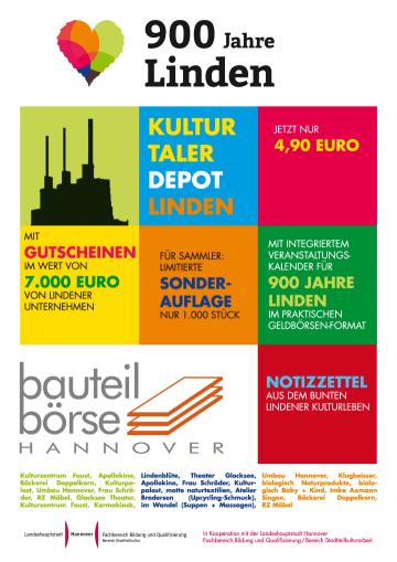 Kulturtaler Depot Linden mit Gutscheinen im Wert von 7.000 Euro