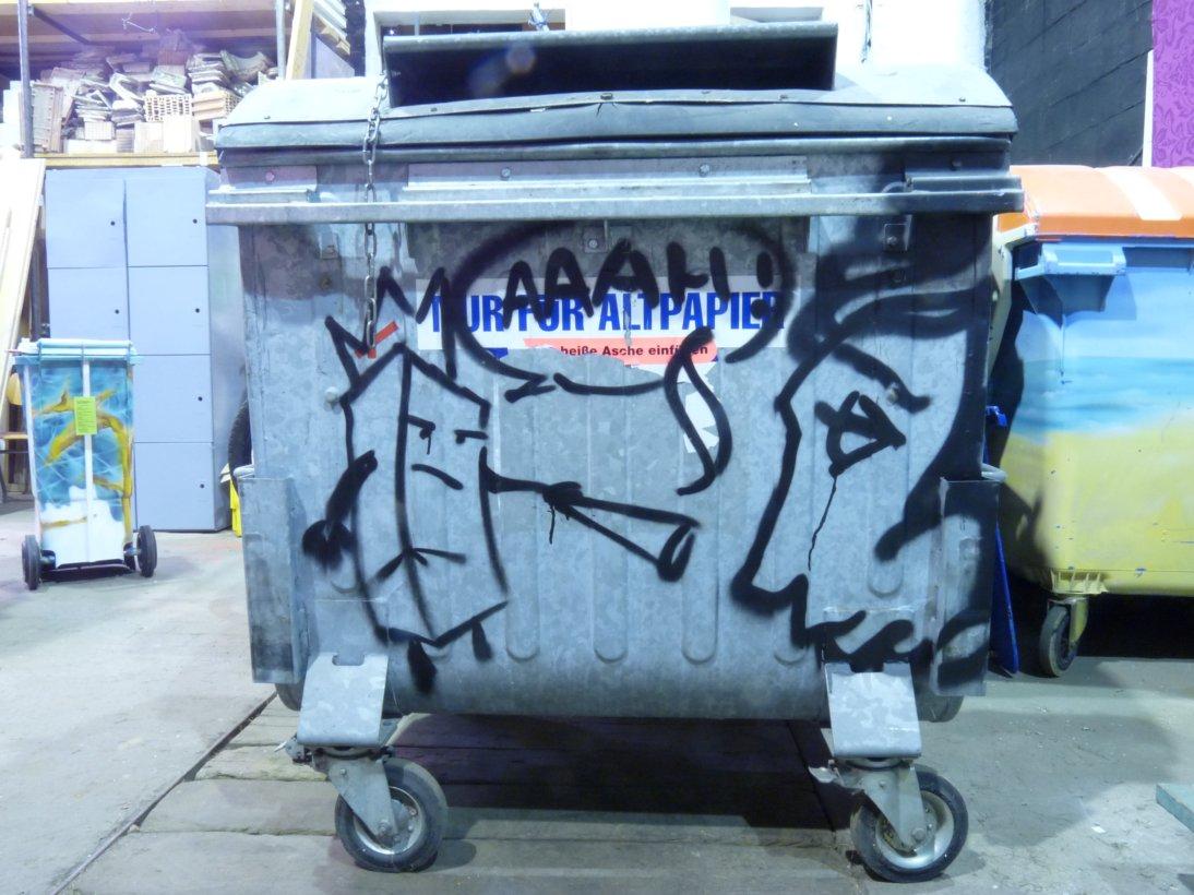 Metall-Abfallbehälter